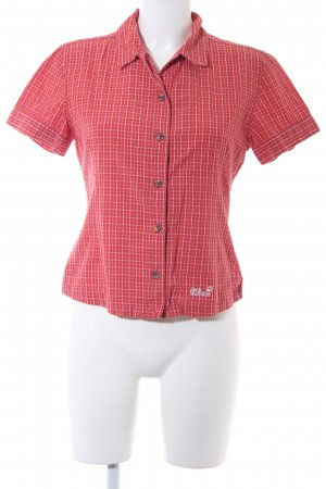 Jack Wolfskin Short Sleeve Shirt check pattern casual look