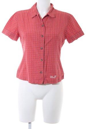 Jack Wolfskin Shirt met korte mouwen geruite print casual uitstraling