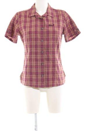 Jack Wolfskin Kurzarmhemd pink-hellorange Karomuster Casual-Look
