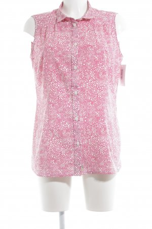 Jack Wolfskin Short Sleeve Shirt pink-white spot pattern casual look