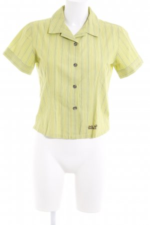 Jack Wolfskin Chemise à manches courtes vert prairie motif rayé