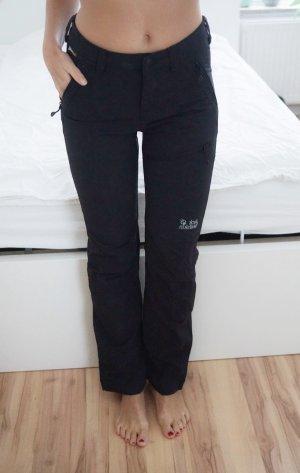 Jack Wolfskin Outdoor Hose Wanderhose schwarz schlicht Damen 34 XS