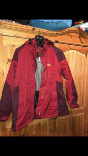 Jack Wolfskin Veste double rouge brique-bordeau
