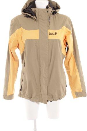 Jack Wolfskin Outdoorjacke beige-hellorange sportlicher Stil