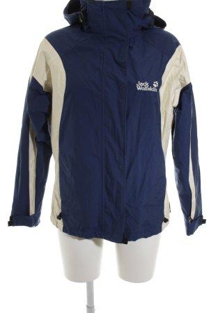Jack Wolfskin Outdoorjacke creme-dunkelblau sportlicher Stil