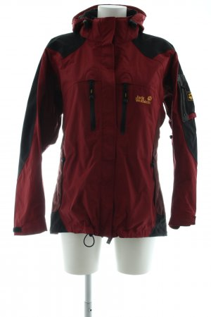 Jack Wolfskin Outdoor Jacket red-black printed lettering casual look