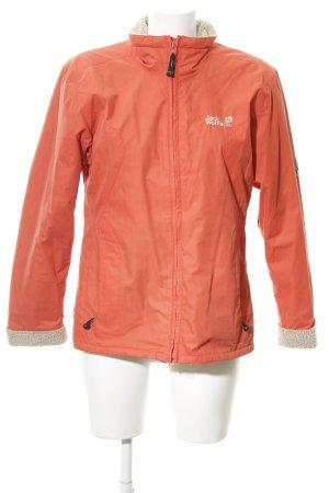 Jack Wolfskin Outdoor jack donker oranje straat-mode uitstraling
