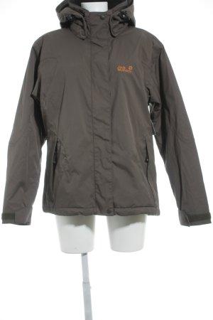 Jack Wolfskin Outdoor jack grijs-bruin-licht Oranje atletische stijl