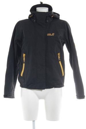 Jack Wolfskin Outdoor Jacket black-gold orange simple style
