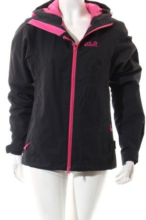 Jack Wolfskin Outdoorjacke schwarz-pink sportlicher Stil