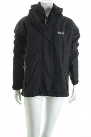 Jack Wolfskin Outdoorjacke schwarz Street-Fashion-Look