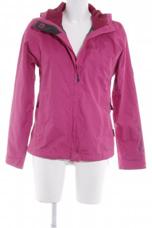 Jack Wolfskin Outdoor Jacket violet-magenta themed print casual look