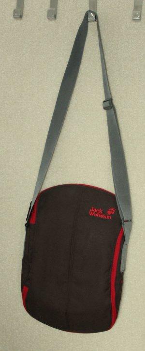 Jack Wolfskin borsa ventiquattrore antracite-rosso scuro Fibra tessile