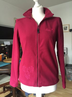 Jack Wolfskin Fleece trui bordeaux