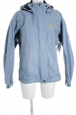 Jack Wolfskin Regenjacke blassblau-grau schlichter Stil