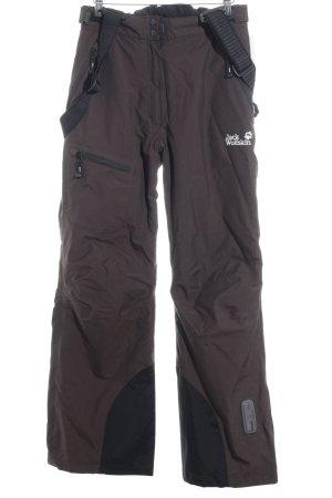 Jack Wolfskin Snow Pants black-dark brown leather-look