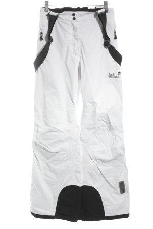 Jack Wolfskin Schneehose weiß-schwarz sportlicher Stil