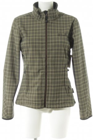 Jack Wolfskin Softshell Jacket khaki-sage green check pattern casual look