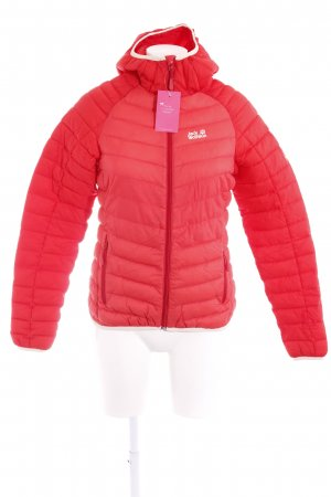 Jack Wolfskin Steppjacke rot-creme Steppmuster Casual-Look