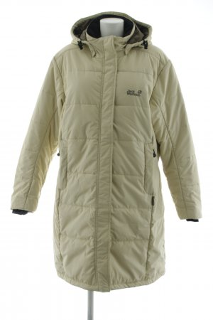 Jack Wolfskin Quilted Coat khaki quilting pattern casual look