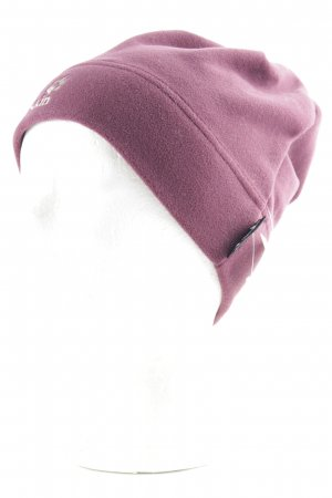 Jack Wolfskin Fabric Hat purple-sage green embroidered lettering athletic style