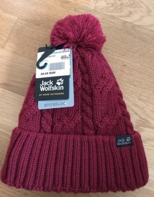 Jack Wolfskin Bobble Hat bordeaux-dark red