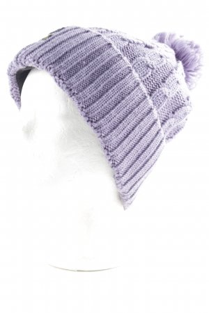 Jack Wolfskin Knitted Hat purple fluffy