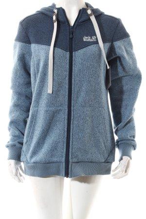 Jack Wolfskin Sweatjacke himmelblau-kornblumenblau sportlicher Stil