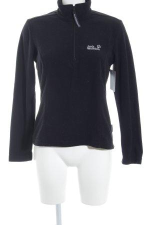 Jack Wolfskin Sweatshirt schwarz Casual-Look