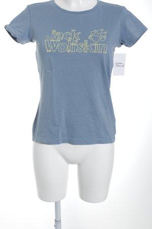Jack Wolfskin T-Shirt blassblau Casual-Look
