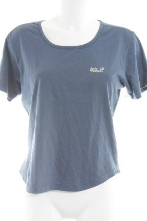 Jack Wolfskin T-Shirt blau sportlicher Stil
