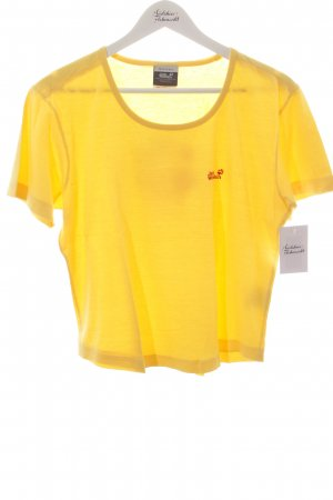 Jack Wolfskin T-Shirt gelb platzierter Druck Casual-Look