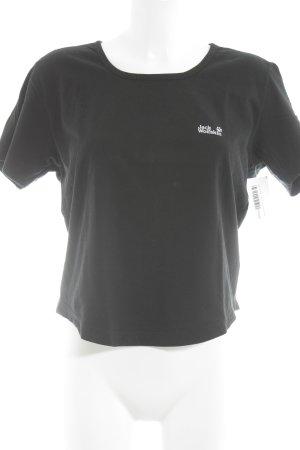 Jack Wolfskin T-Shirt schwarz sportlicher Stil