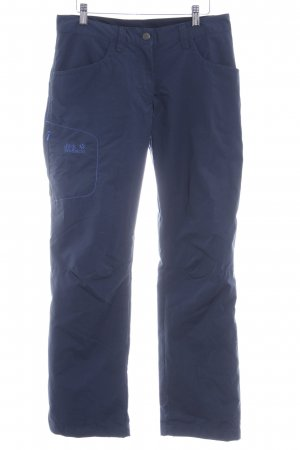 Jack Wolfskin Thermal Trousers dark blue-neon blue casual look
