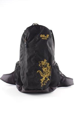 Jack Wolfskin Trekking-Rucksack schwarz-dunkelgelb sportlicher Stil