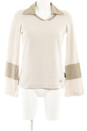 Jack Wolfskin V-Ausschnitt-Pullover beige-creme sportlicher Stil