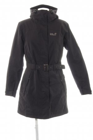 Jack Wolfskin Winterjas zwart straat-mode uitstraling