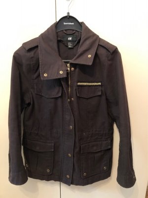 H&M Military Jacket multicolored cotton