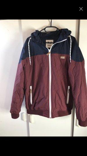 Iriedaily Outdoor Jacket dark blue-bordeaux