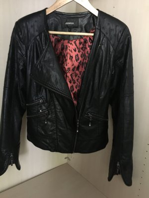 Bikerjack zwart-rood