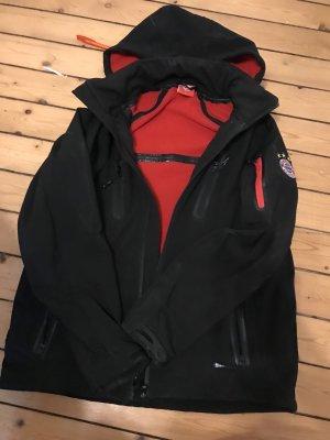 Giacca con cappuccio nero-rosso