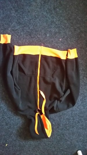 Long Jacket black-neon orange