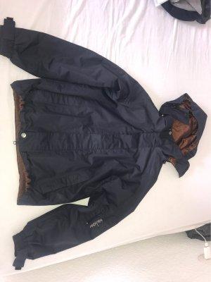Chubasquero azul oscuro-marrón