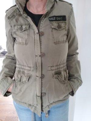Kuhjo Outdoor Jacket green grey textile fiber
