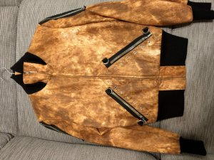 & Bomber Jacket black-cognac-coloured synthetic material