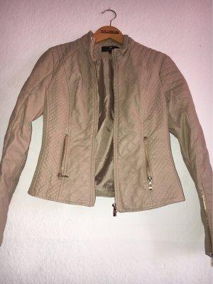 0039 Italy Veste en cuir beige