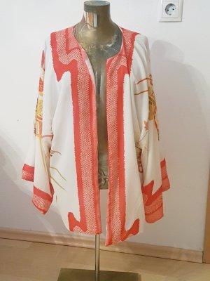 Oversized Jacket natural white-orange synthetic