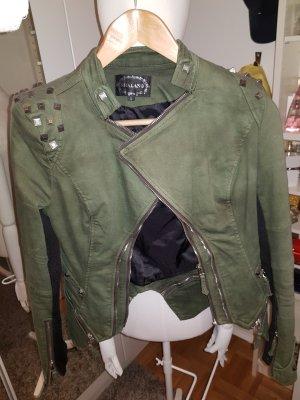 Giacca militare argento-grigio-verde