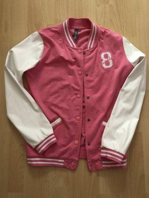 Rainbow Chaqueta estilo universitario blanco-rosa