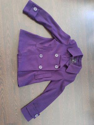 H&M Giacca lunga viola scuro